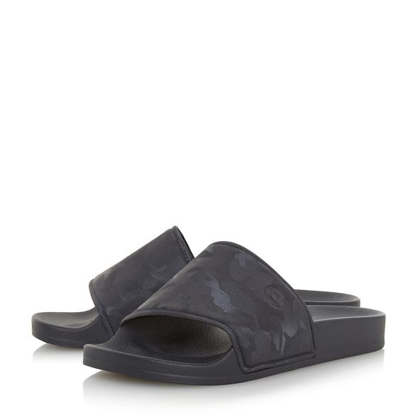 Dune 'Heath' sandals Navy sliders camo 4rpwx4q5z