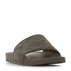 Dune - Khaki 'Heath' camo sliders sandals
