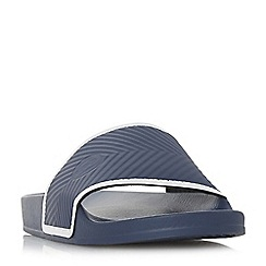 Dune - Navy 'Hemsworth' textured strap pool sliders