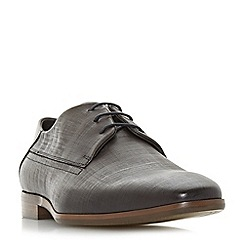 Dune - Grey 'Pacos' textured upper lace-up Gibson shoes