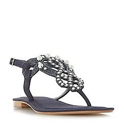 Dune - Navy 'Neverland' t-bar sandals