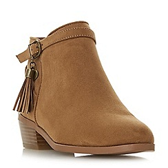 Head Over Heels by Dune - Tan 'Palomma' block heel ankle boots