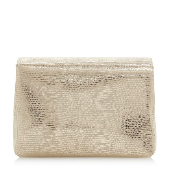 foldover bag Gold clutch 'Bayer' Dune qWfAzn