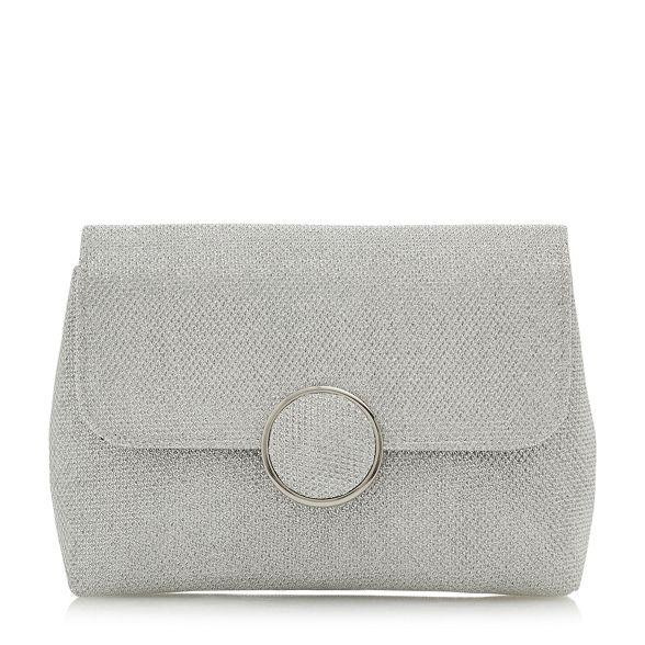 'Bayer' foldover bag croc Silver clutch Dune wq5pavn