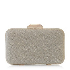 Dune - Gold 'Beverlie' hard case box clutch bag