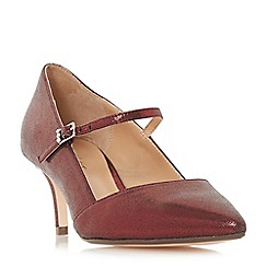 Roland Cartier - Maroon 'Audrey' kitten heel court shoes