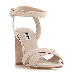 e73b33a4887890 Dune - Light pink suede  Mariianna  mid block heel ankle strap sandals