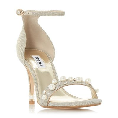 Dune - Metallic 'Merridth' stiletto heel ankle strap sandals