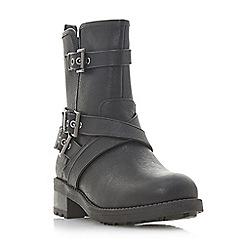 Head Over Heels by Dune - Black 'Raakel' block heel ankle boots