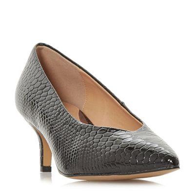 Head Over Heels heel by Dune - Black 'Amandi' kitten heel Heels court shoes 9d207d