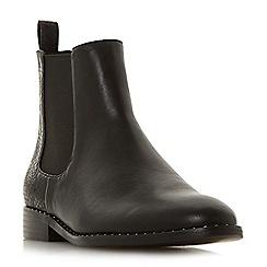 Head Over Heels by Dune - Black 'Petunia' block heel chelsea boots