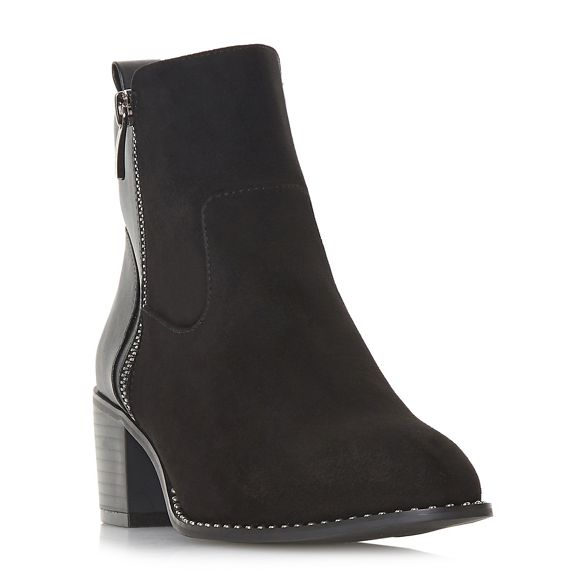 heel Over mid boots Head Black by block Dune ankle Heels 'Patricias' dwY7Yq8v