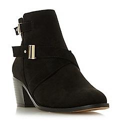 Head Over Heels by Dune - Black 'Philipa' block heel ankle boots
