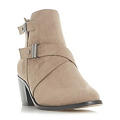 Head Over Heels by Dune - Taupe 'Philipa' block heel ankle boots
