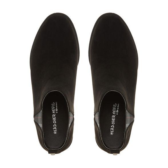 Heels block Black boots chelsea Head Over 'Primma' heel Dune by 6xYf5Fq