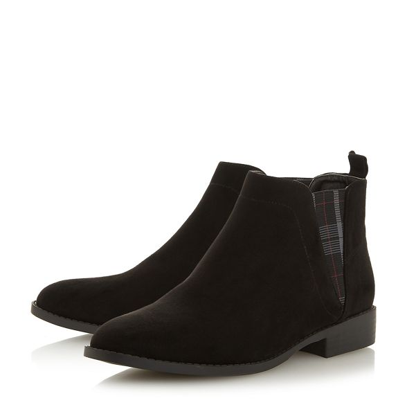 Heels block Black boots chelsea Head Over 'Primma' heel Dune by 6xYf5Fq