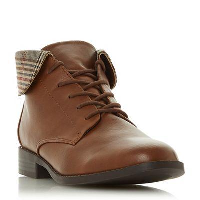 Head Over Heels by Dune - Tan 'Petree' block block block heel ankle boots c32be6