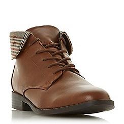 Head Over Heels by Dune - Tan 'Petree' block heel ankle boots