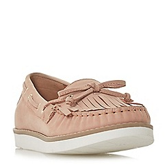 Dune - Light pink leather 'Ginney' loafers