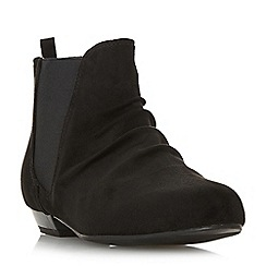 Head Over Heels by Dune - Black 'Prias' ankle boots