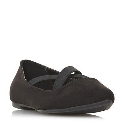 Head Over Heels by Dune - Black 'Hiraa' ballet pumps