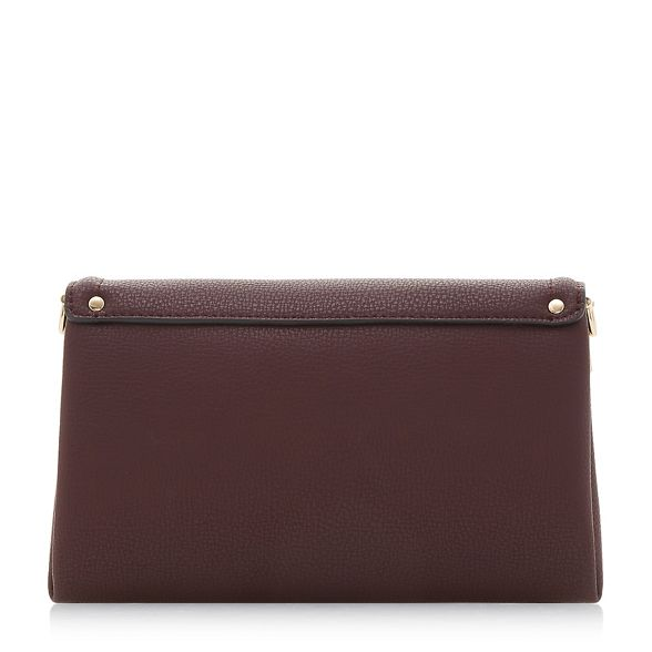 detail Dark foldover red lock bag 'Enzie' Dune clutch 4ZxRInqSw4
