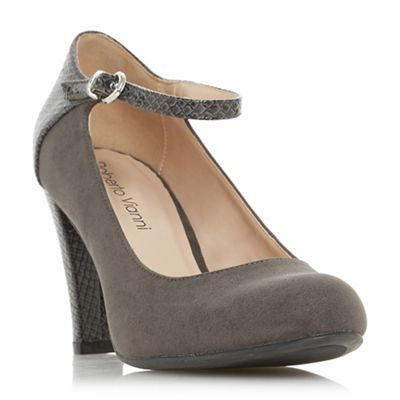 Roberto Vianni - Grey 'Afra' high block heel court shoes