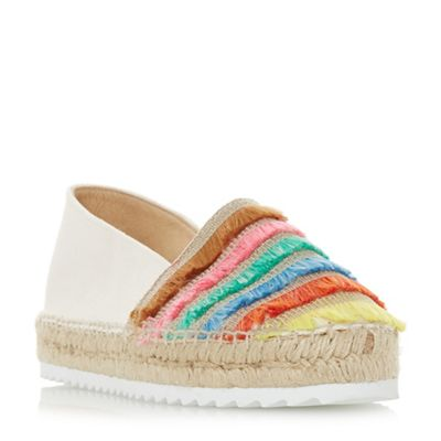 Dune - Multicoloured 'Glazier' espadrilles Fashionable and eye-catching shoes