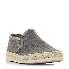 Dune - Grey 'Ferdinand' espadrilles trim canvas shoes