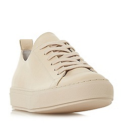 Dune Black - Natural leather 'Enjoye' casual trainers