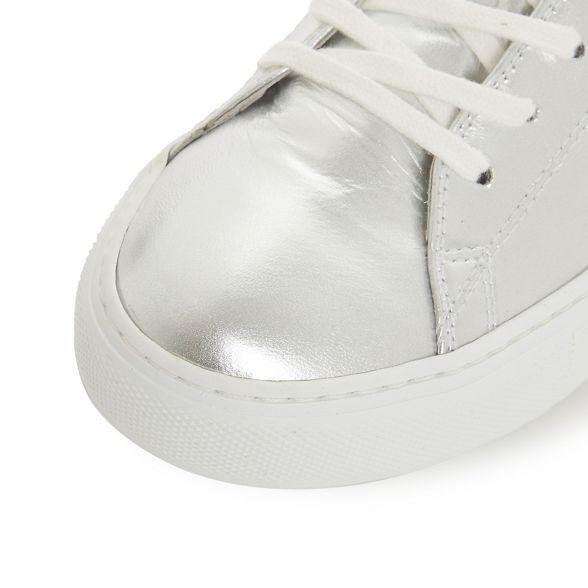 Silver casual Black 'Enjoye' leather Dune trainers Cwg6R5gq