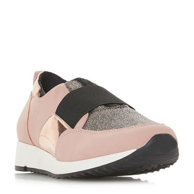 Head Over Heels by Dune - Natural 'Ebbis' casual trainers