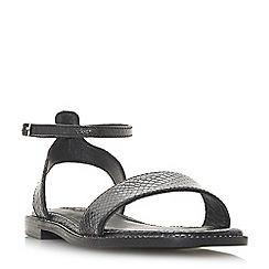 Dune - Black leather 'Nance' ankle strap sandals