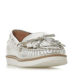 Dune - Silver leather 'Ginney' loafers