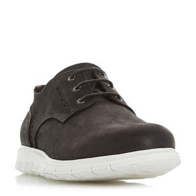 Dune - Black 'Bolognas' punch brogue wedge shoes