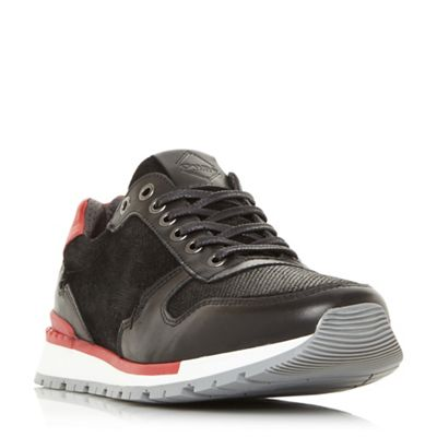 Dune - Black 'Terni's' textured insert running trainers