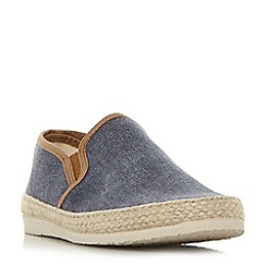 Dune - Navy 'Fabien' espadrilles trim canvas shoes