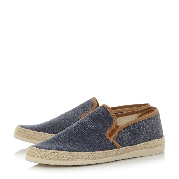 trim Dune 'Fabien' canvas espadrilles shoes Navy FqrpYrxt