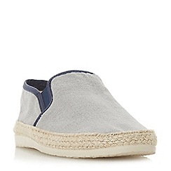 Dune - Grey 'Fabien' espadrilles trim canvas shoes