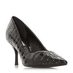 Dune - Black 'Andersonn' mid block heel court shoes