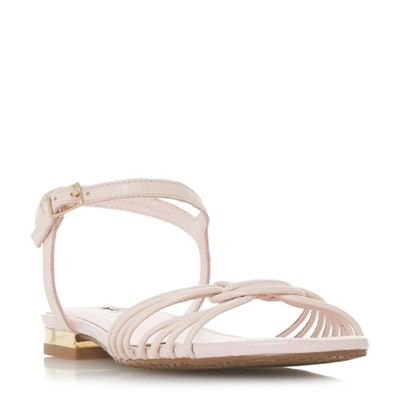 Dune - Light pink leather 'Napa' t-bar sandals