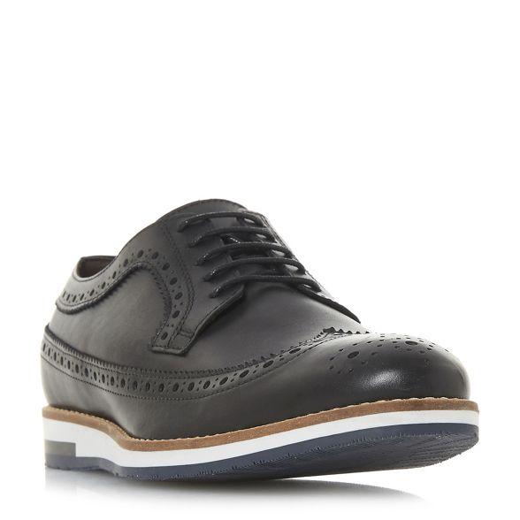 Bertie shoes multi Black American sole brogue 'Bakers' wedge 4gq4r