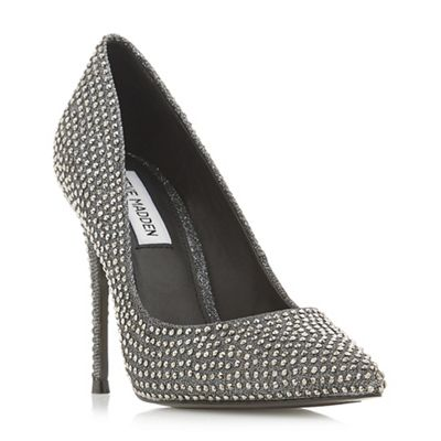 Steve Madden - Silver 'Daisie-r Steve Madden' high stiletto heel court shoes