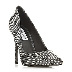 Steve Madden - Silver 'Daisie-r Steve Madden' high stiletto heel court shoes