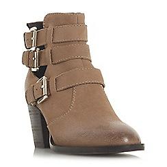 Steve Madden - Tan leather 'Yanky Steve Madden' mid block heel ankle boots