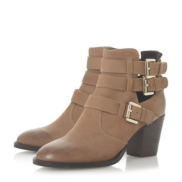 block Steve Tan Madden ankle Steve boots leather 'Yanky mid Madden' heel rr0xgw