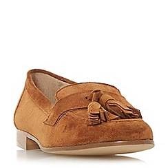 Dune Black - Tan suede 'Golfe' loafers