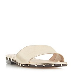 Dune - Gold leather 'Lanes' mule slippers