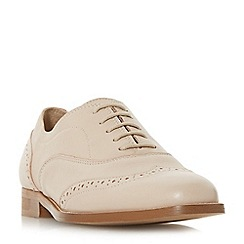 Dune Black - Light pink leather 'Flaine' block heel brogues