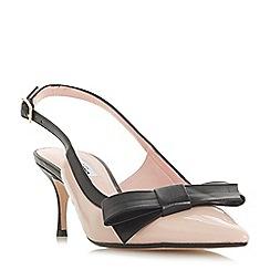 Dune - Light pink 'Clemmiee' mid kitten heel court shoes